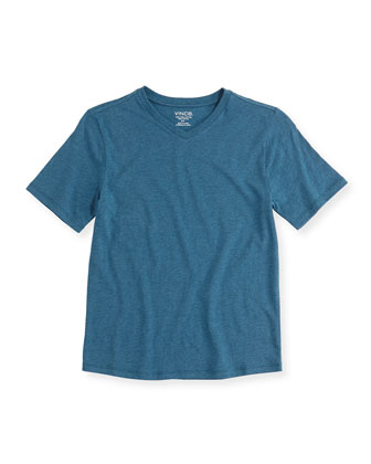 Boy's Favorite V-Neck Tee, Blue Gray, S-XL
