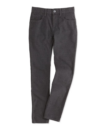Brushed Heathered Pants, Charcoal, Boys' 4-7