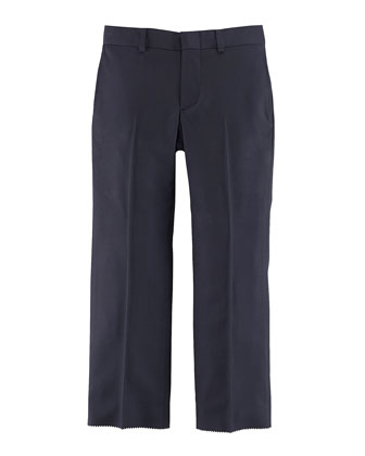 Woodsman Flat-Front Suit Pants, Navy, Sizes 3-7
