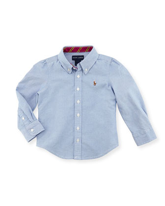 Classic Oxford Shirt, Blue, Kids' 2T-3T