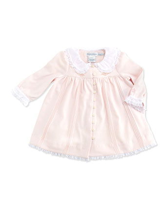 Pintuck Jersey-Knit Dress, Delicate Pink, 3-12 Months