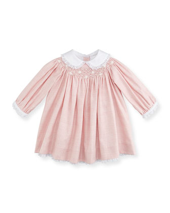 Glen Plaid Woven Dress, Pink, 3-12 Months