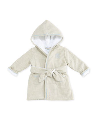 Boys' Glen Plaid Robe, Gray Multi, 3-9 Months