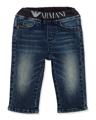 Logo Denim Jeans, Sizes 3-24 Months