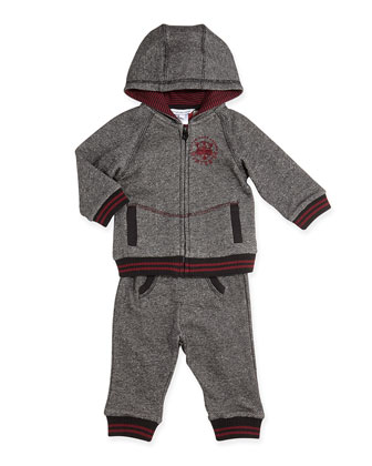 Two-Piece Jogging Set, Gray, 3-18 Months