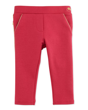 Milano Ruffle-Trim Pants, Red, 3-18 Months