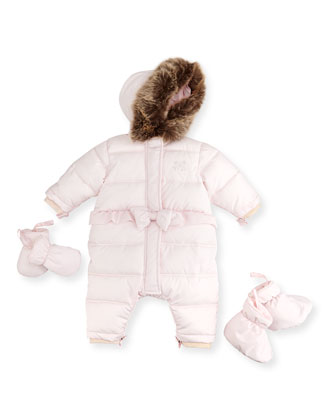 Snowsuit with Mittens & Booties, Pink, 3M-2T