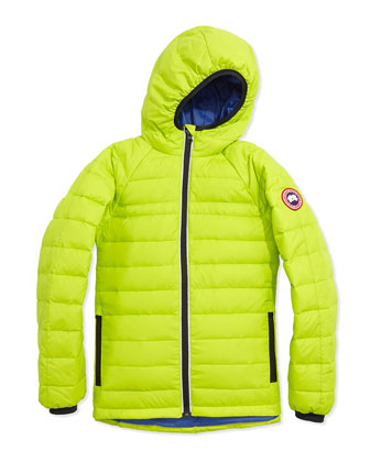 Youth Sherwood Hooded Jacket, Aurora Green, XS-XL