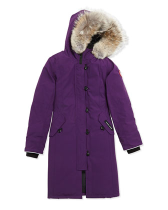 Youth Brittania Parka with Removable Fur Trim, Arctic Dusk, XS-XL