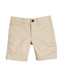 Chino Short Boys' Shorts, Stone, Size 4-14