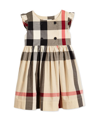 Sleeveless Cotton Dress, New Classic Check, Size 4Y-14Y