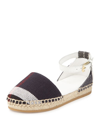 Infant Check Espadrille, White
