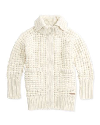 Cashmere Oversized Sweater, Natural, 4Y-14Y
