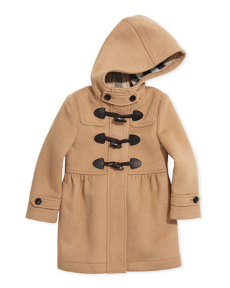 Girls' Toggle Coat with Hood, New Camel, 4Y-14Y