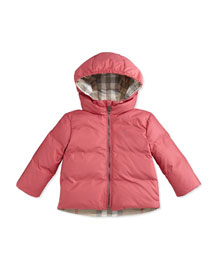Rio Hooded Puffer Jacket, Camelia Pink, 3-24 Months