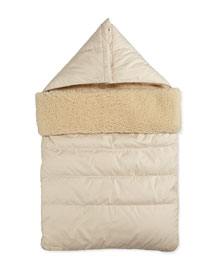 Lapi Shearling Lined Baby Sleeper Bag, Natural White