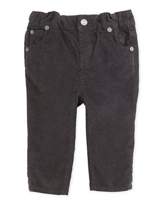 Skinny Corduroy Pants, Flint, 3M-2Y
