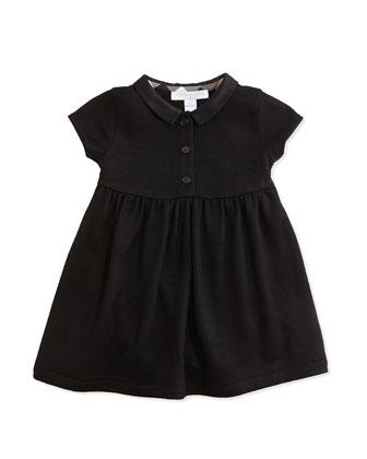 Peter Pan-Collar Dress, Black, 3M-3Y