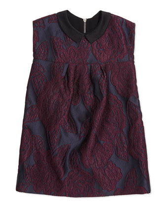 London-Inspired Jacquard Dress, Girls' 8-14