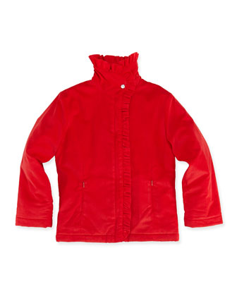 Lauren Corduroy Jacket, Red, Girls' 2Y-12Y