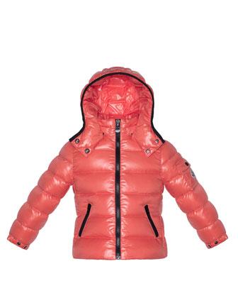 Bady Shiny Puffer Jacket, Pink, Sizes 2-6
