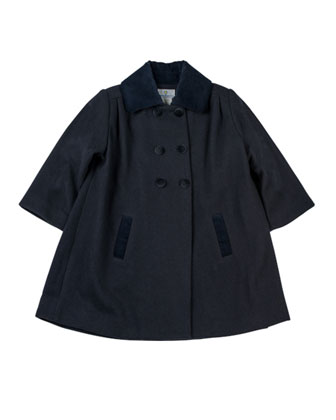 Classic Pea Coat, Navy, Sizes 4-6X