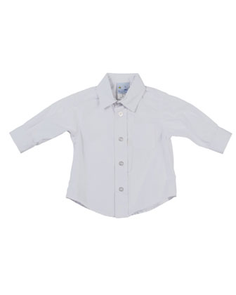 Photo-Op Button-Down Shirt, White, 2T-4T