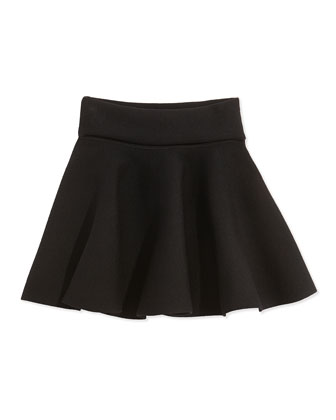 Knit Pull-On Skirt, Black, Sizes 2-7