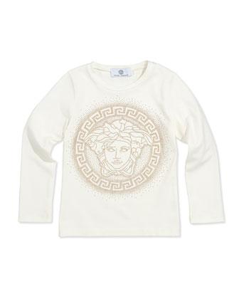 Medusa Logo Tee, White, Sizes 11-14
