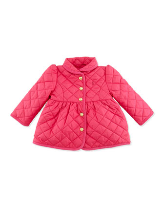 Quilted Barn Jacket, Currant, 9-24 Months
