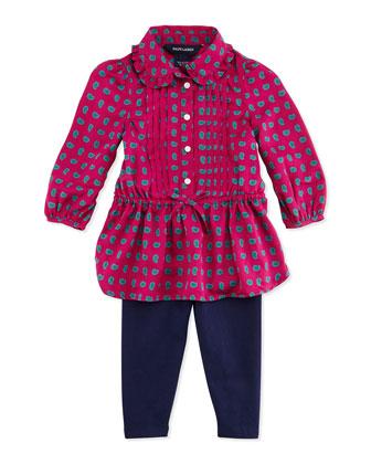 Paisley-Print Tunic & Leggings Set, 9-24 Months