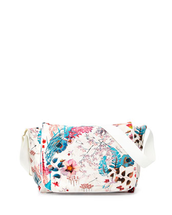 Floral-Print Soft Diaper Bag