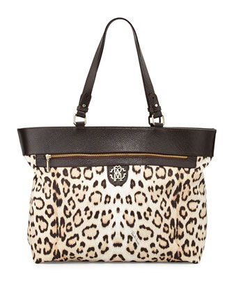 Leopard-Print Diaper Bag