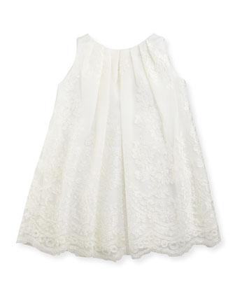Sleeveless Lace Dress, Ivory, 2T-4T