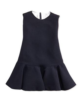 Ruched Chiffon Dress, Navy, Sizes 7-14