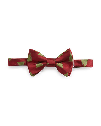 Christmas Tree Bow Tie, Red