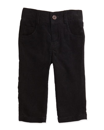 Boys' Corduroy Pants, Black, 2T-7Y