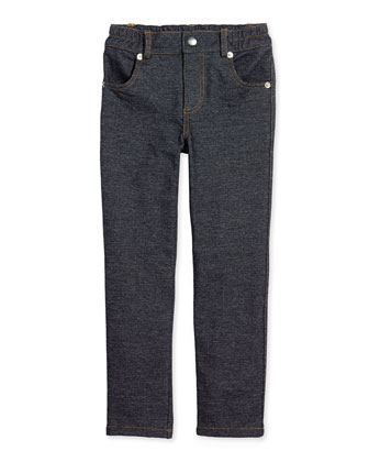 Knit Denim Pants, 2T-7Y