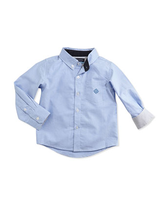 Button-Down Oxford Shirt, Blue, 2T-7Y