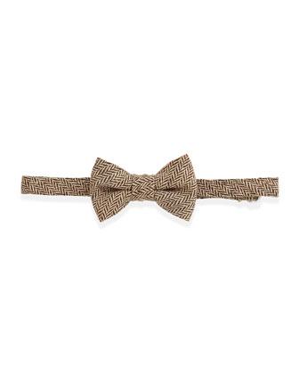 Herringbone Tweed Bow Tie