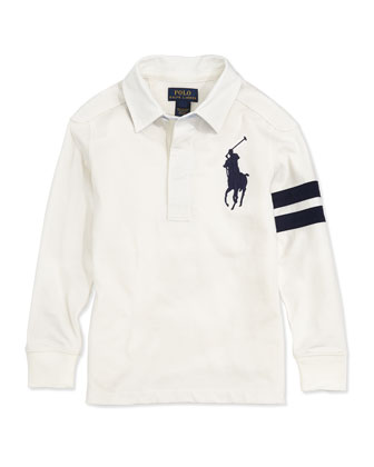 Big Pony Rugby Jersey Polo, Boys' 2T-3T