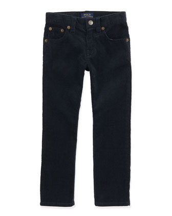 14-Wale Corduroy Pants, Aviator Navy, Sizes 4-7