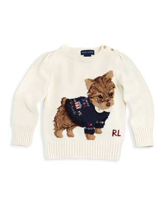 Intarsia-Knit Dog Sweater, 2T-3T