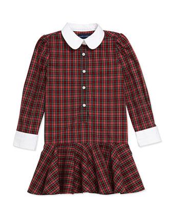 Tartan Plaid Poplin Dress, Sizes 4-6X