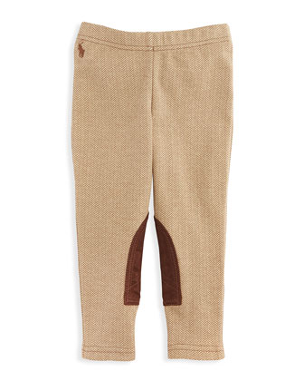 Herringbone-Tweed Jodhpur Leggings, Sizes 4-6X