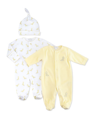 Giraffe Babies Printed Hat, NB-Small