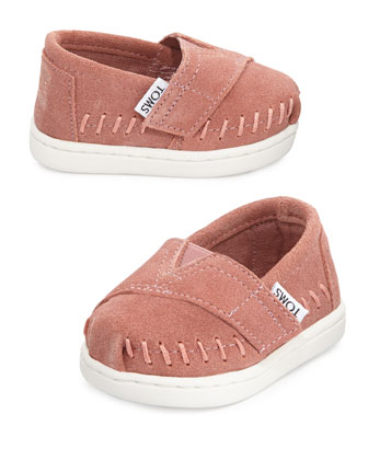 Classic Suede Slip-On, Rose Pink, Tiny