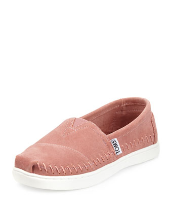 Classic Suede Slip-On, Pink, Youth