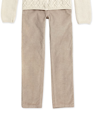 Slim-Cut Corduroy Pants, Girls' Sizes 2-6