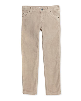 Slim-Cut Corduroy Pants, Girls' Sizes 8-12